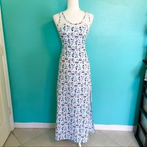 GBY Guess Abstract Blue Maxi Dress size XS